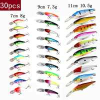 TUYA Fishing Set Wobblers Fishing Lure Set Minnow Trolling Artificial Bait Bionic Fish Big Wobbler Deep water Longbill Hard Lure