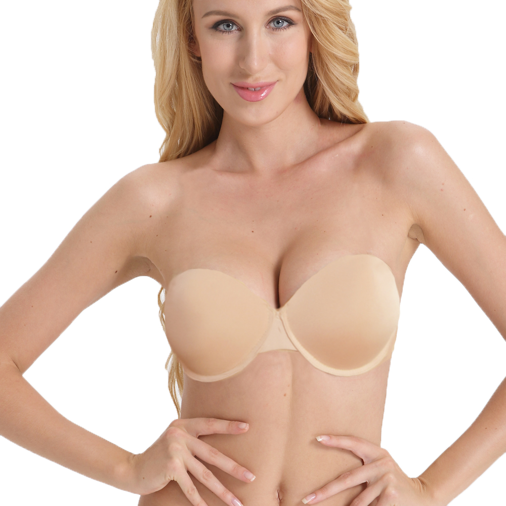 2965543cd6 Sexy Wedding Lingerie Thick Padded Push Up Bras Invisible Transparnt Strapless  Adjustable Clear Back Bras 32 34 36 38 40 A B C D-in Bras from Underwear ...
