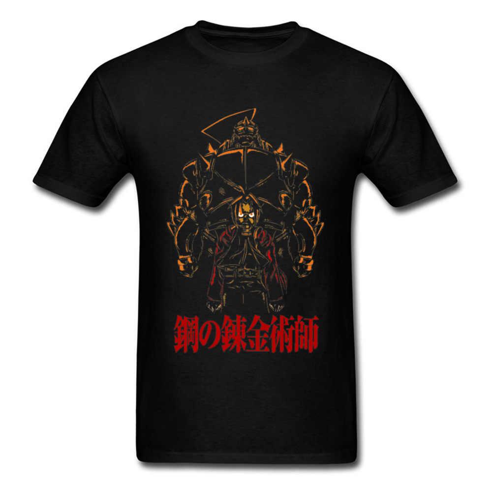อะนิเมะ Fullmetal Alchem Ist เสื้อยืด Edward เหล็ก Alchemist การ์ตูนเสื้อญี่ปุ่นมังงะเสื้อใหม่ผ้าฝ้าย 3D ธรรมดา