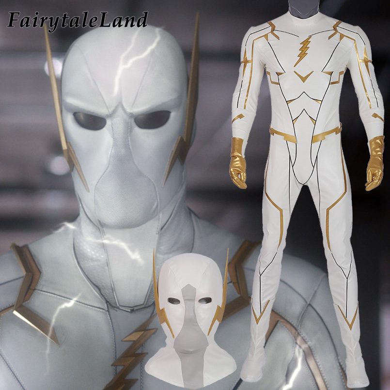 <font><b>The</b></font> <font><b>Flash</b></font> 5 Godspeed <font><b>Cosplay</b></font> Costume Anti Hero Halloween Costumes Adult Men <font><b>Flash</b></font> <font><b>Cosplay</b></font> Outfit Helmet <font><b>Boots</b></font> Custom Made image