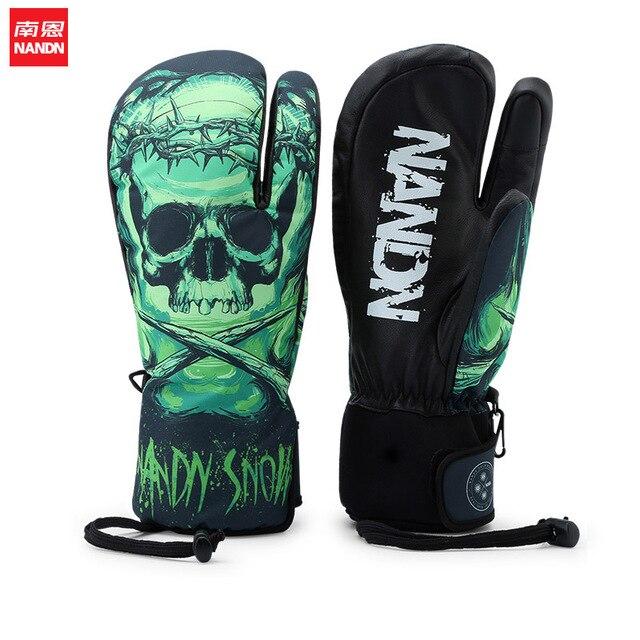 NANDN gant de ski Palmar cuir imperméable hommes et femmes hiver extérieur écran tactile gants gants de neige