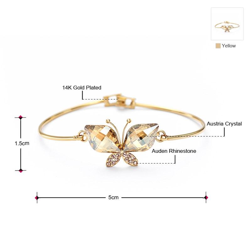 Neoglory Australia Crystal & Auden Rhinestone Bangle Lovely Butterfly - Նորաձև զարդեր - Լուսանկար 2
