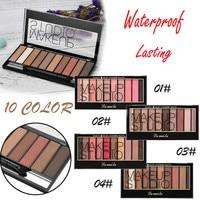 2018 New Makeup 10 Colors Eyeshadow Palette Shimmer Glitter Eye Shadow Powder Palette Matt Eyeshadow Cosmetic Beauty Eye Shadow Health & Beauty
