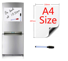 Magnetic Whiteboard Fridge Magnets A4 Size 210mmx297mm Presentation Boards Home Kitchen Message Writing Sticker 1 Pen