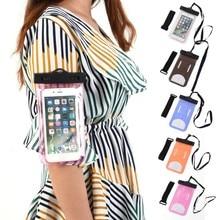 Swimming Bag Waterproof Underwater Pouch Phone Case Universal touch Screen Cell Phone Armband Dry Bag цена в Москве и Питере