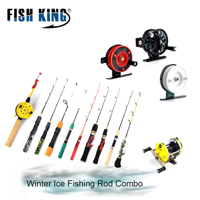 FISH KING Winter Ice Fishing Rod with Ice Fishing Reel C.W 3-40G Casting/Spinning Rod Combo For Winter Ice Fishing