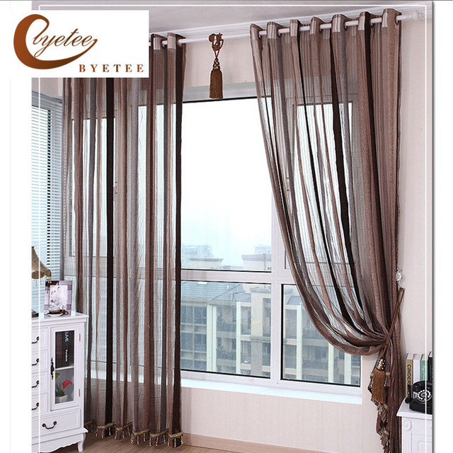 Kitchen Drapes Open Designs In Small Apartments Us 10 08 16 Off European Design Strip Chenille Window Curtain For Living Room Tulle Sheer Door Yarn Curtains