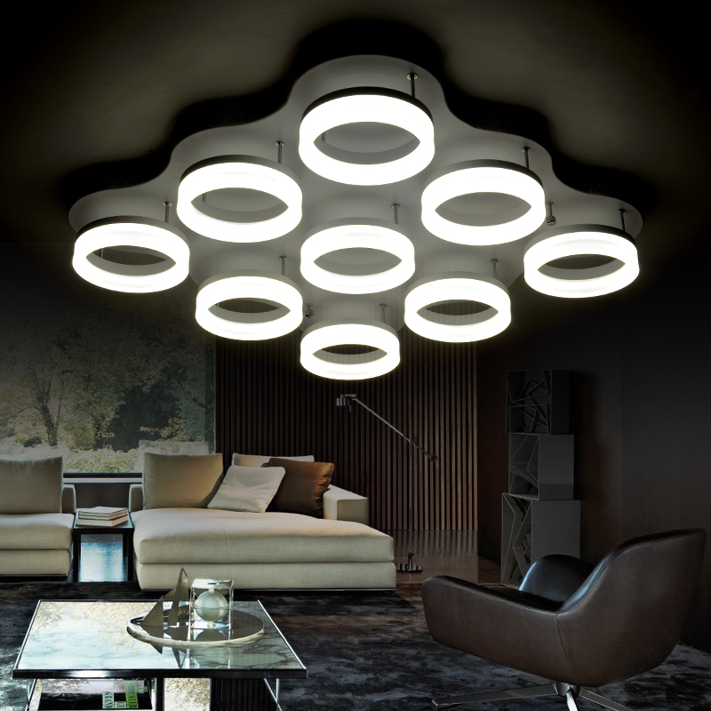 ФОТО Contracted and contemporary circular dome light sitting room the bedroom corridor lamp 85-265 - v AC acrylic light leds