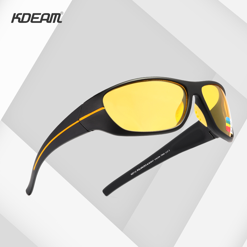 KDEAM Ultra-high Anti-scratch TR90 Polarized Sunglasses Men 1.1mm Lens Thickness Sun Glasses  for Jogging Fishing Night Driving