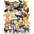 50 pcs Tamanho Pequeno Animais Terrestres Modelo Toy Set Alta Imitação As Criaturas Terrestres Educação Toys Presente Das Crianças Frete Grátis