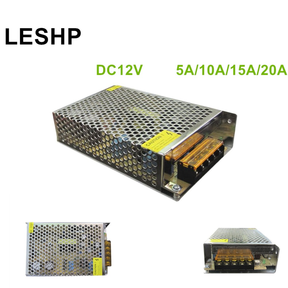LESHP Stainless Steel Transformer Switch Power Supply Adapter Driver Suitable for Monitor Cameras Professional 12V Smart Switch 4pcs 12v 1a cctv system power dc switch power supply adapter for cctv system