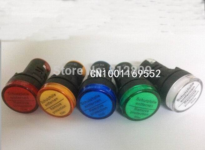 AD16-22DS 22mm Mounting Size Led Indicator Lamp,signal Lamp Blue,green,red,white,yellow Pilot Lamp +FREE SHIPPING