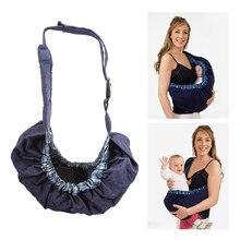 c06fc7758e77d Infant Neugeborenen Einstellbare Baby Träger Tasche Sling Ergonomische One  Schulter Baumwolle Sling Wrap Reiter Rucksack Fütterung