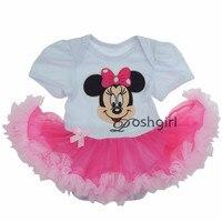2017 Yeni Bebek Tek Parça Tulum Mickey Minnie Elbise Bebek Kız Kıyafet Tutu Elbiseler Güzel Prenses Tutu Dantel Çocuklar için tulumlar