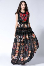 New arrival 2018 summer floral embroidery boho dress Fashion woman's high quality polka dots dress S-XL holiday style dress