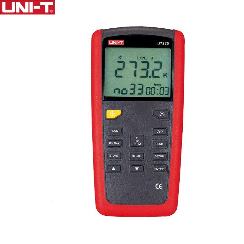 UNI-T UT325 Contacter Type Termometers Gamme-200 ~ 1375 USB Interface Industrielle Température Test Sélection Type K.J.T.E.R.S.N