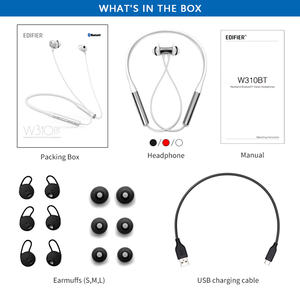 Image 5 - EDIFIER W310BT Bluetooth V4.2 earphone up to 8.5 hours playback IPX5 Waterproof magnetic earpieces incoming call vibration