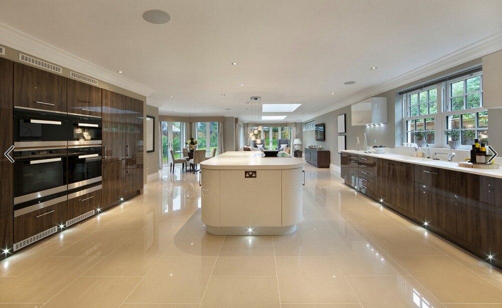 2017 Новый дизайн кухонной мебели Лидер продаж высокоглянцевый УФ краски Лак современных кухонных шкафов l1606009