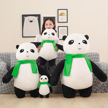 New Style Cute Scarf Panda Short Plush Toys Stuffed Animal Soft Doll Toy Children Kids Birthday Gift