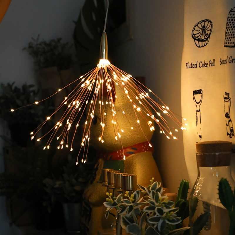 40 ライトスティック 200LED 太陽光発電バッテリー DIY 花火ライトストリングランタンハロウィンクリスマスルーム屋外装飾ランプ