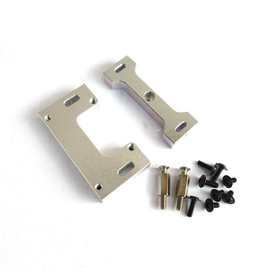 Image 2 - Per WPL B1 B 1 B14 B 14 B16 B 16 B24 B 24 C14 C 14 B36 MN modello D90 D91 RC aggiornamento auto parti modificato timone piastra di fissaggio in metallo