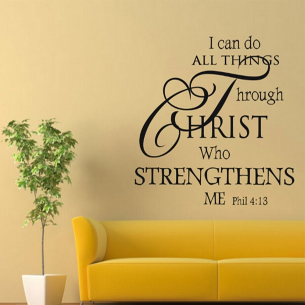 Outstanding Scripture Vinyl Wall Art Vignette - Wall Art Collections ...