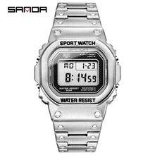 SANDAนาฬิกาแบรนด์หรูLEDนาฬิกาแฟชั่นนาฬิกาแฟชั่นผู้ชายชายนาฬิกาRelogio Masculino