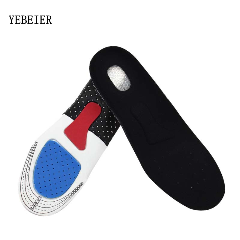 купить 2017 Unisex  Orthotic Arch Support Shoe Pads Sport Running Insert Cushion insoles Gel Insoles  for Men Women недорого