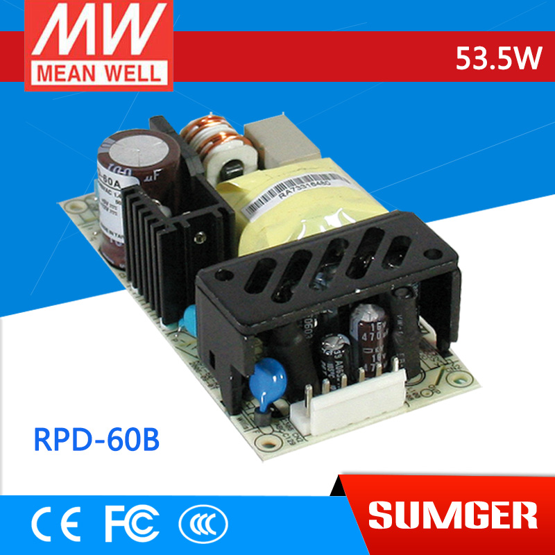 ФОТО [Freeshiping 1Pcs] MEAN WELL original RPD-60B meanwell RPD-60 53.5W Dual Output Medical Type Switching Power Supply