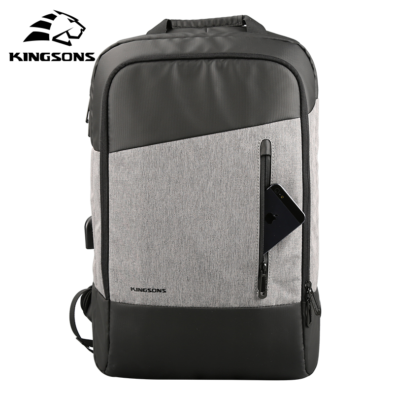 Herrentaschen KöStlich Kingsons Marke Männer Daypacks Usb Lade 15,6 laptop Rucksack Business Saugen Rucksäcke Teenager Reise Schule Gepäck Taschen Tropf-Trocken