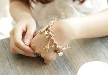 Hot style Korean tassel five-pointed star poker bracelet Japanese and five-leaf flower