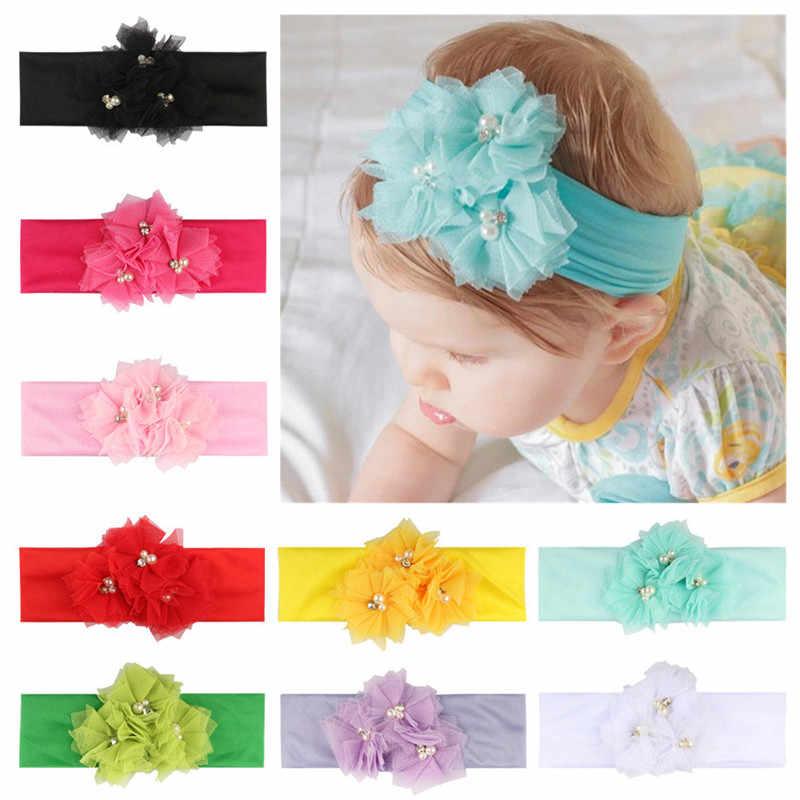 Accesorios para diademas de recién nacido para bebé niña diadema turbante nudo cabeza envolturas acessorios lazos para pequeño cabelo