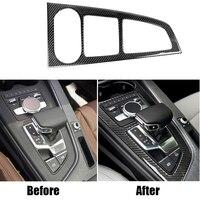 Carbon Fiber Car Gear Shift Control Frame Panel Cover Trim Decal Sticker for Audi A4 B9 16 17 A4L A5 2017 2018 Left Hand Drive