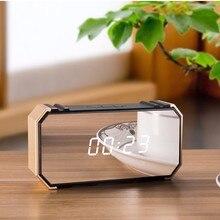 Многофункциональный светодиодный зеркальный Будильник Повтор Настольные часы Пробуждение цифровой будильник дисплей время usb зарядка время температура дисплей дома