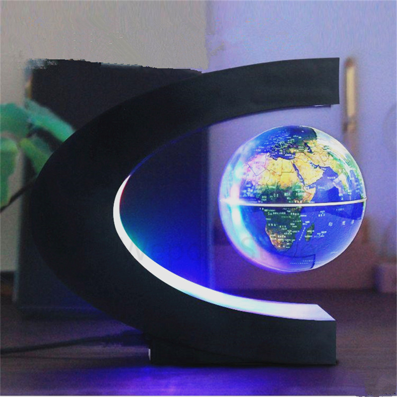 Led floating globo terrestre light lighted magnetic levitation led floating globo terrestre light lighted magnetic levitation english globe world map ball lamp plug charge home decor lamp in led night lights from lights gumiabroncs Images