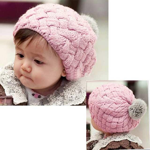 Chapéu de lã Crianças Bebê Coelho Faux Fur Gorros Bebes Crochê Criança  Gorros Cap 0- 434700709b6