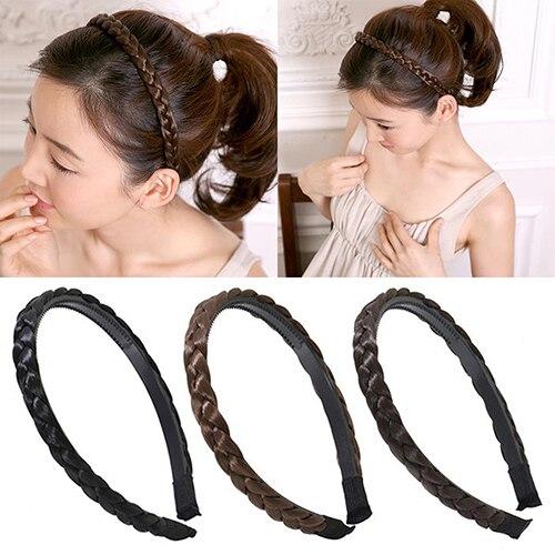 Women Fashion Twisted Wig Braid Hair Band Braided Headband Hair Accessories 6a5c3e35044