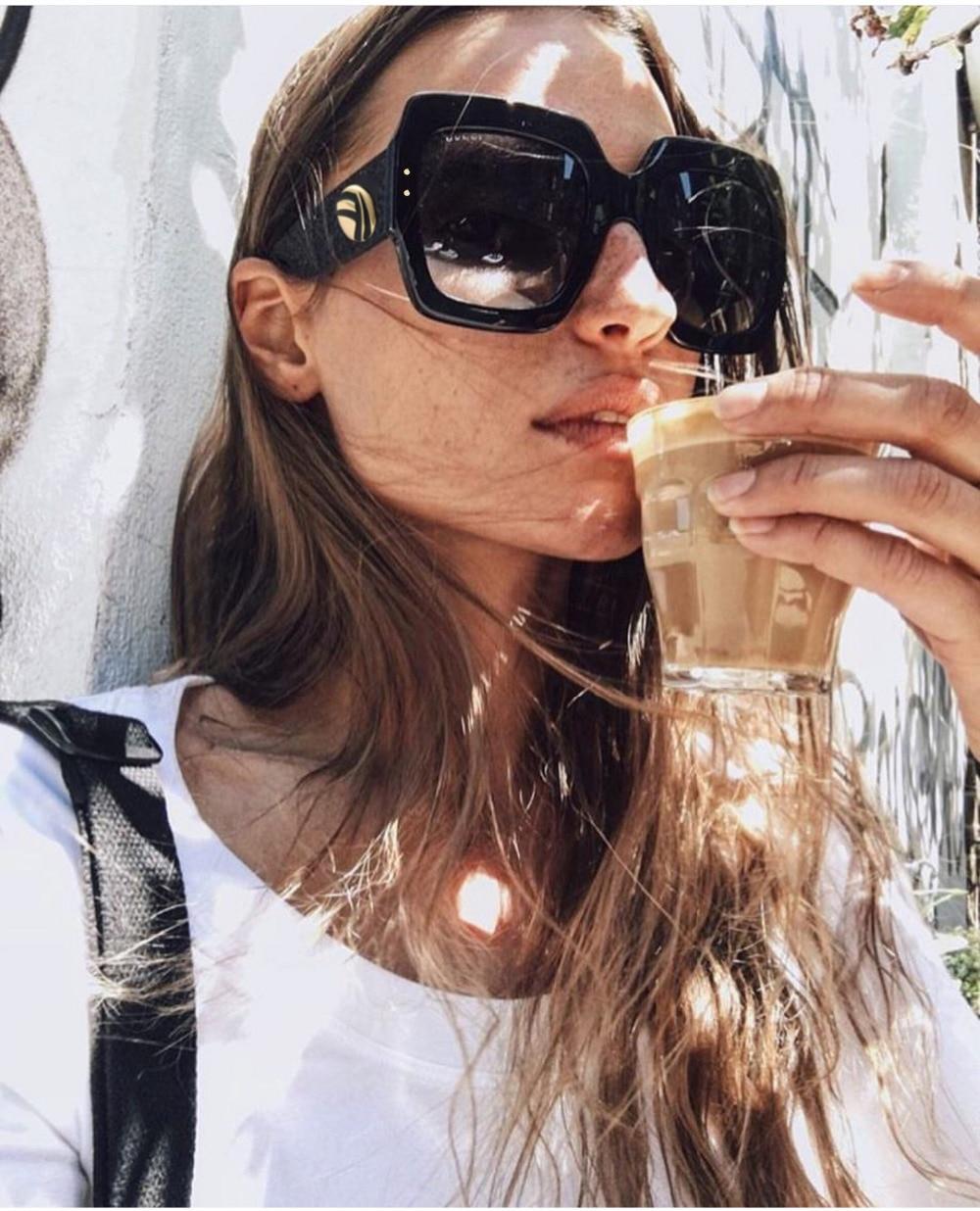 Kvinnor män trendiga stora handgjorda kristall solglasögon lyx - Kläder tillbehör - Foto 1