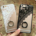 """Case for iphone 6 6S Cute Lace Ring holder Stand phone cases For  iphone 6s 4.7"""" Soft TPU case back cover+free lanyard"""