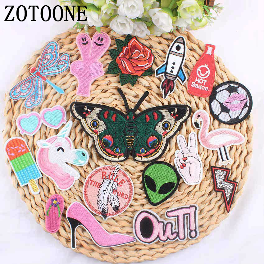 ZOTOONE 1 шт., розовая искусственная кожа, дешевая вышитая искусственная железная детская одежда, искусственная кожа для одежды