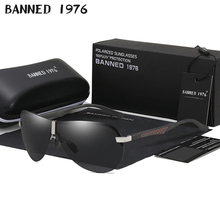 BANNED 1976 Polarized Sunglasses Men Driving Aluminum Magnes