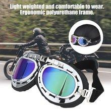 Vintage Unisex Anti-UV moto piloto de scooter gafas casco gafas deporte carreras fuera de la carretera Motocross gafas caliente