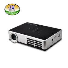 Todo el mundo de Ganancia WIFI Inteligente Android 3D Proyector Full HD DLP TV LED de Enfoque Corto de Cine En Casa Con Pantalla Táctil DH-A600W