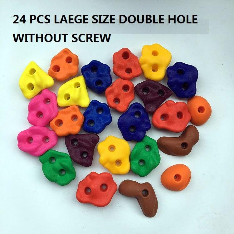 16 til 32 pc'er / sæt plastik børn rock klatring væg rock sten børn legetøj sport værktøj udendørs spil børnehave uden scre