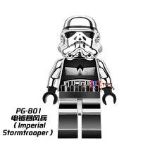 Single Sale star wars superhero marvel Chrom Stormtrooper SW097 building blocks model bricks toys for children brinquedos menino