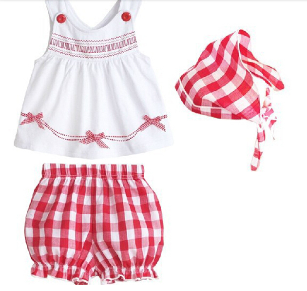 Kids Tollders Girls Costume 3pcs Set Sleeveless Tops Shorts Scarf Outfits 1-3Y S2