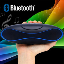 Wireless Bluetooth Speaker QFX Portable Rugby Music Sound Box Subwoofer Loudspeakers TF/AUX/USB/FM with Built-in Microphone