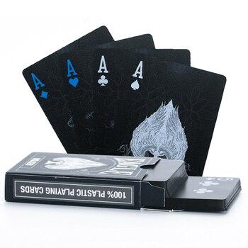 8ee0272943f60 Пластиковые игральные карты черный волшебный Орел покер карты красивый  дизайнерский комплект для покера карты водонепроницаемые