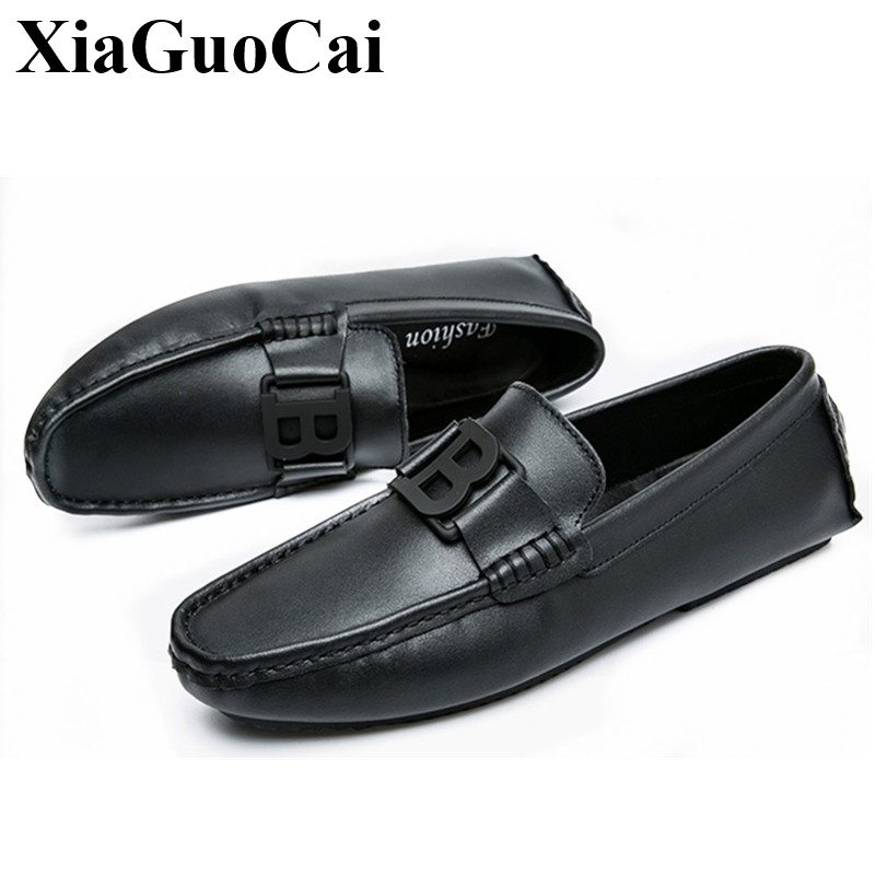 Genuine Leather Shoes Men Casual Loafers Fashion Moccasins Breathable Slip-on Soft Flats Driving Shoes H286 35 handmade genuine leather men s flats casual haap sun brand men loafers comfortable soft driving shoes slip on leather moccasins