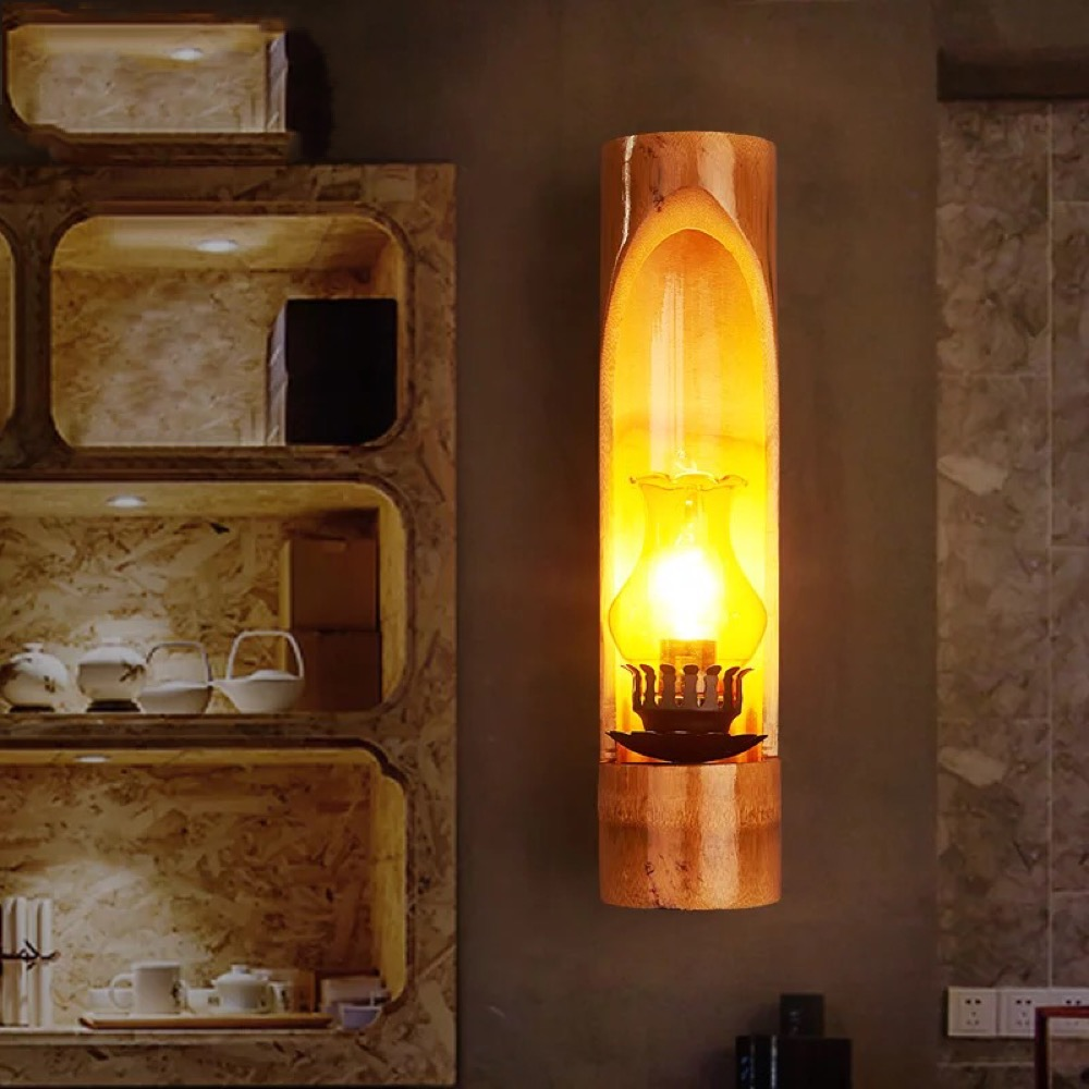 Pastoral Creative Bamboo Arts Chinese Wall lamp Restaurant Bamboo Aisle Bedroom Living Room Bedside Retro Wall lamp LU724201 студийная звуковая карта rme hdspe raydat